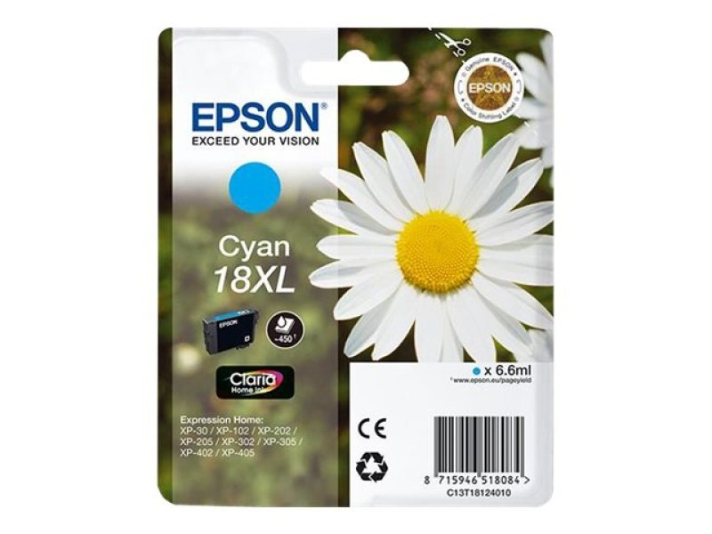 Epson 18xl Daisy Cyan Ink Cartridge