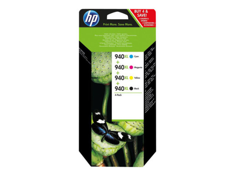 HP 940XL Combo 4 Pack Ink Cartridges - C2N93AE