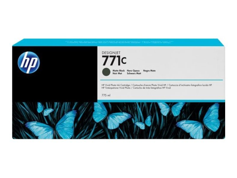 HP 711C 775ml Matte Black Ink Cartridge - B6Y07A