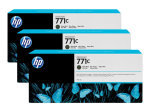 HP 711C Matte Black Original, Multi-pack Ink Cartridge - Standard Yield 3 x 775ml - B6Y31A