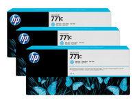 HP 711C Light Cyan Original, Multi-packInk Cartridge - Standard Yield 3 x 775ml - B6Y36A