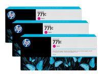 HP 711C Magenta Original, Multi-packInk Cartridge - Standard Yield 3 x 775ml - B6Y33A