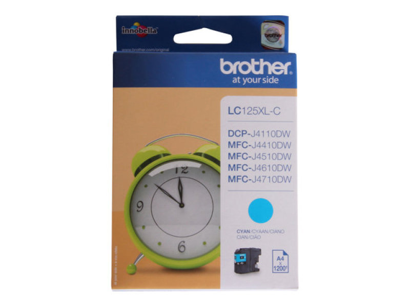 Brother LC125XLC Cyan Ink Cartridge