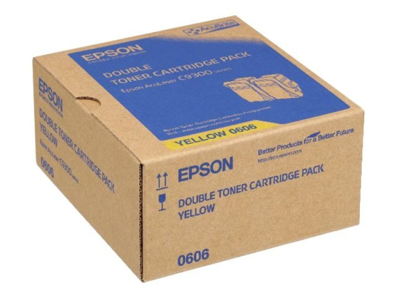 Epson Al-c9300n Yellow Toner Cartridge - Dual Pack