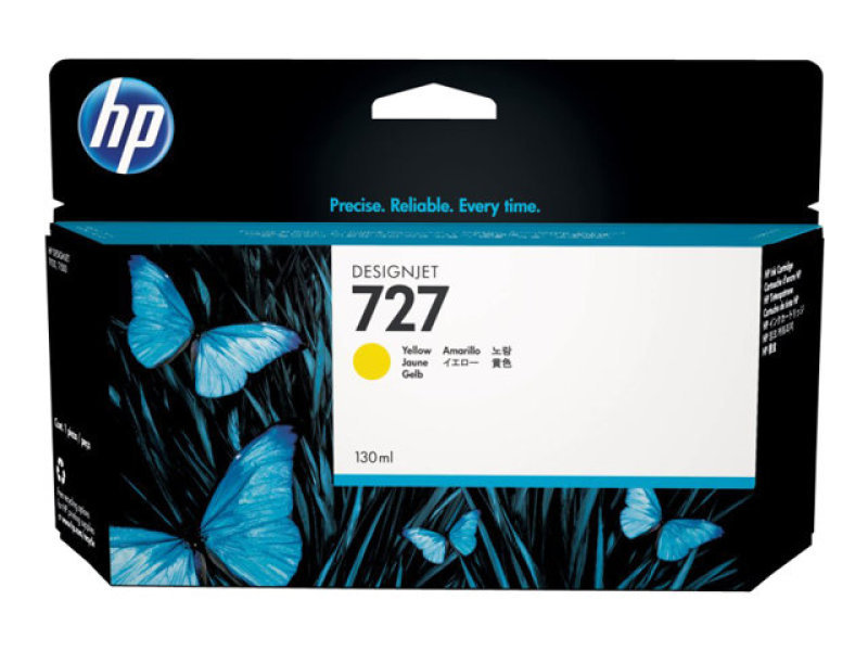 *HP 727 130-ml Yellow Designjet Ink Cartridge - B3P21A