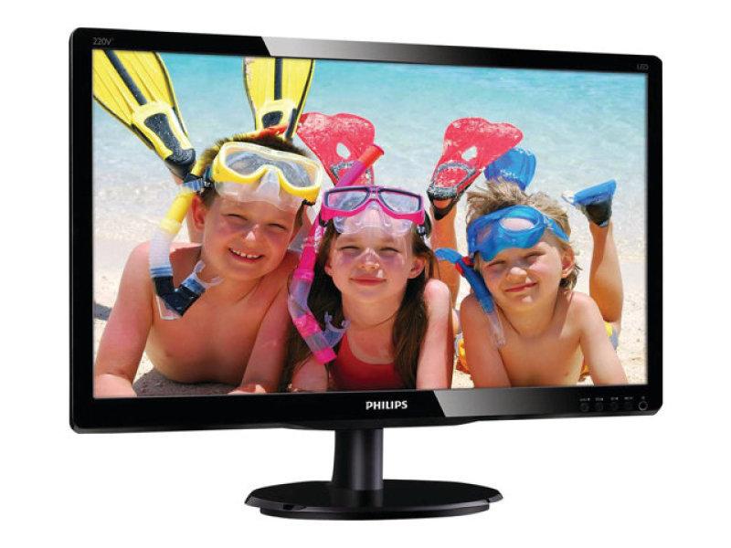 """Philips 220V4LSB 22"""" LED VGA DVI Monitor"""