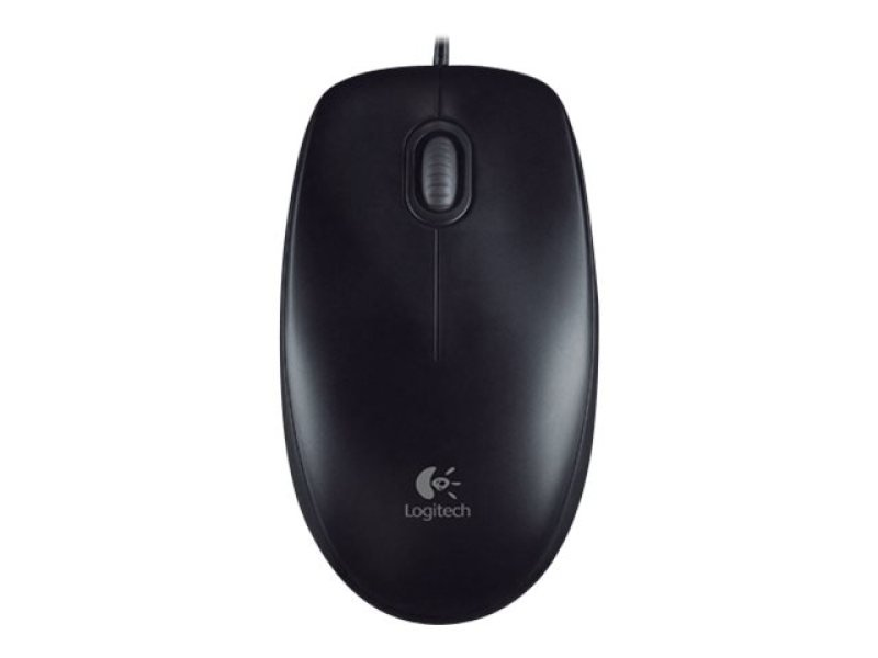 Logitech B100 White Optical Mouse For Business