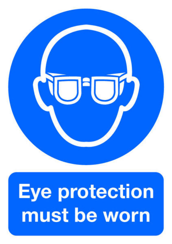 Extra Value PVC A4 Safety Sign - Eye Protection