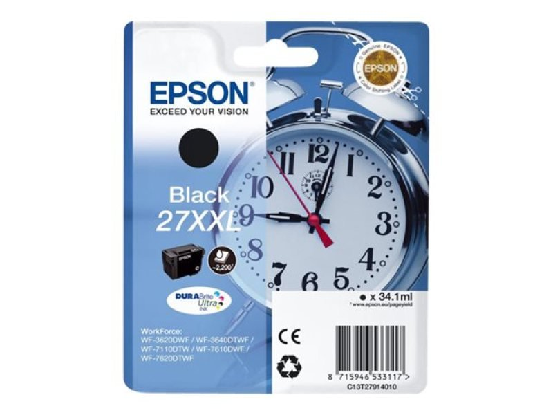 Epson 27XXL DURABrite UltraInk Black Ink Cartridge