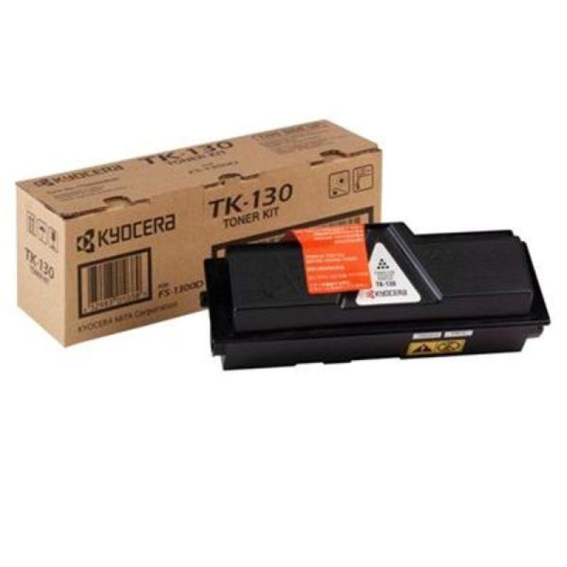 Kyocera TK 130 Black Laser Toner Cartridge 7200 Pages