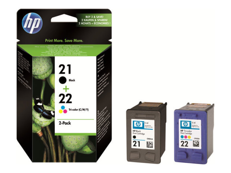 Hp 21/21/22 Ink Cartridge Tri-pack - SD400AE
