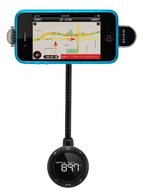 Belkin TuneBase FM LIVE - Digital player car holder / FM transmitter / charger