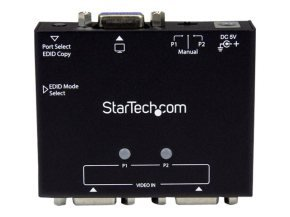 StarTech.com 2-Port VGA Auto Switch Box with Priority Switching and EDID Copy - 2x1 Dual Port Monitor VGA Switch 1920x1200