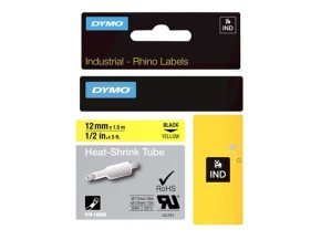 Dymo RHINO Heat Shrink Tube 12mm Yellow