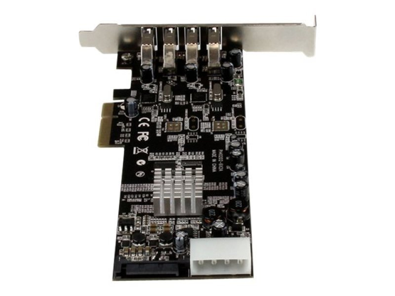 StarTech.com 4 Port PCI Express USB 3.0 Card w/ 2 Dedicated Channels - UASP