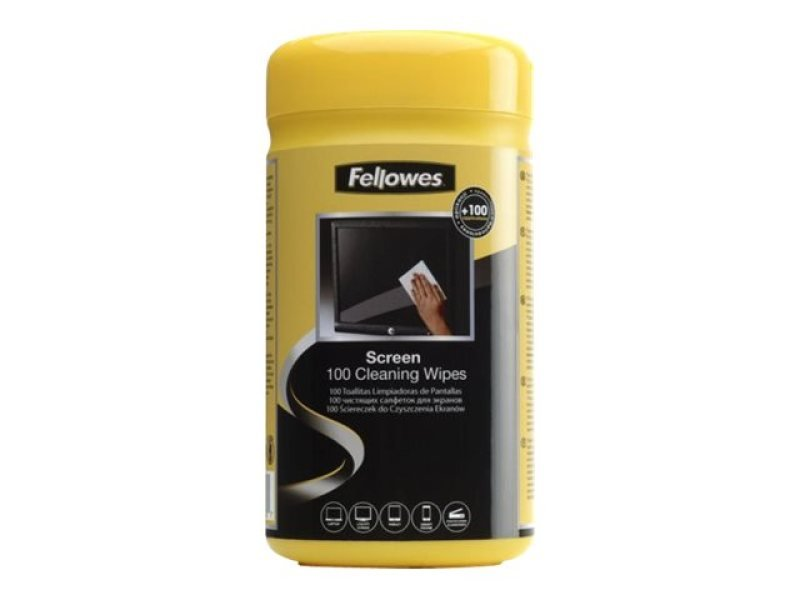 Fellowes Cleaning Wipes Tub 100 Wipes