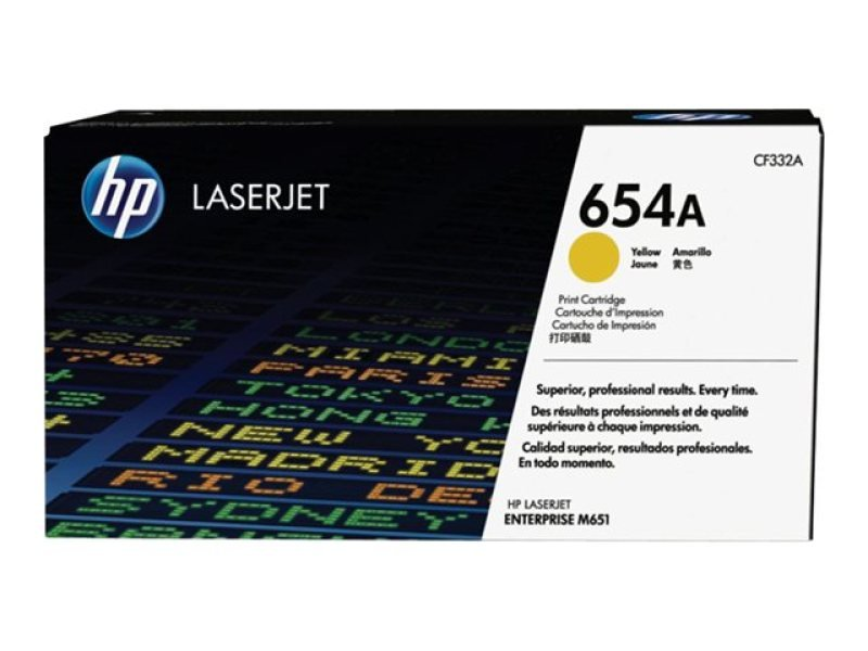 HP 654A Yellow LaserJet Cartridge - CF332A