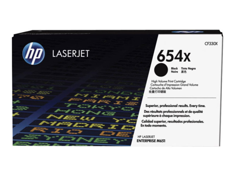 HP 654X Black High Yield Toner Cartridge - CF330X