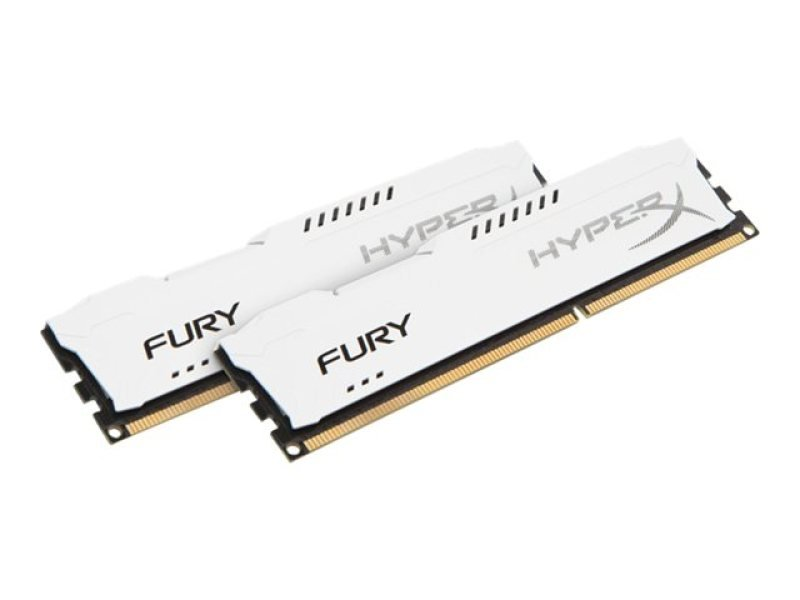 HyperX Fury White Series 8GB 1600MHz DDR3 CL10 DIMM (Kit of 2) Memory