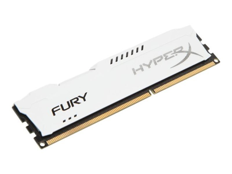 HyperX Fury White Series 8GB 1600MHz DDR3 CL10 DIMM Memory
