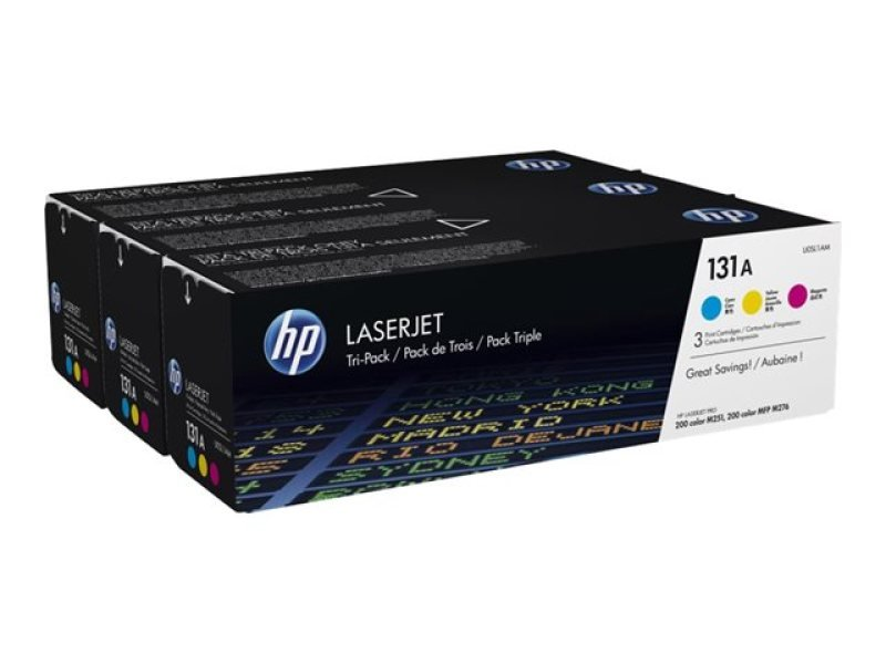 HP 131A CYM  LaserJet Toner Cartridge - Tri Pack - U0SL1AM
