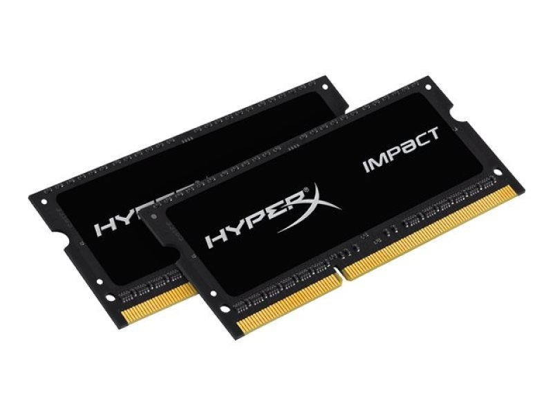 HyperX 16GB 1600MHz DDR3L CL9 SODIMM (Kit of 2) 1.35V HyperX Impact Black