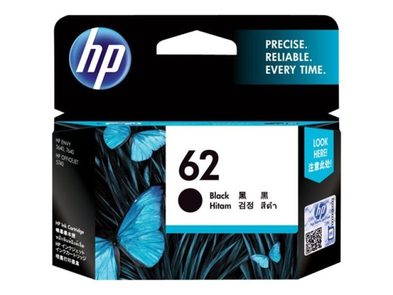 HP Ink/62 Black Cartridge