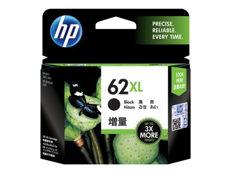 *HP 62XL High Yield Black Ink Cartridge