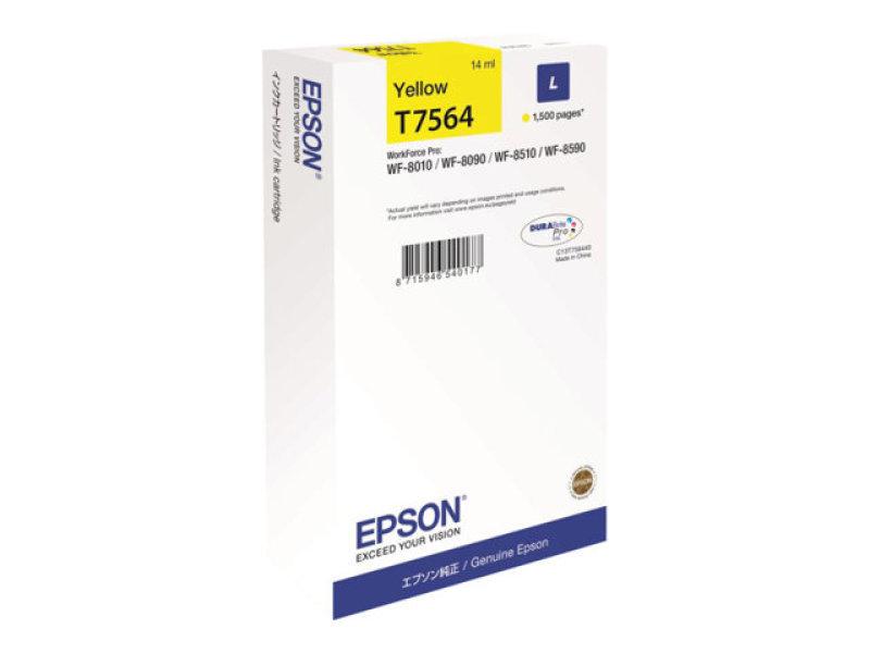 Epson T7564 L Yellow High Yield Ink Cartridge