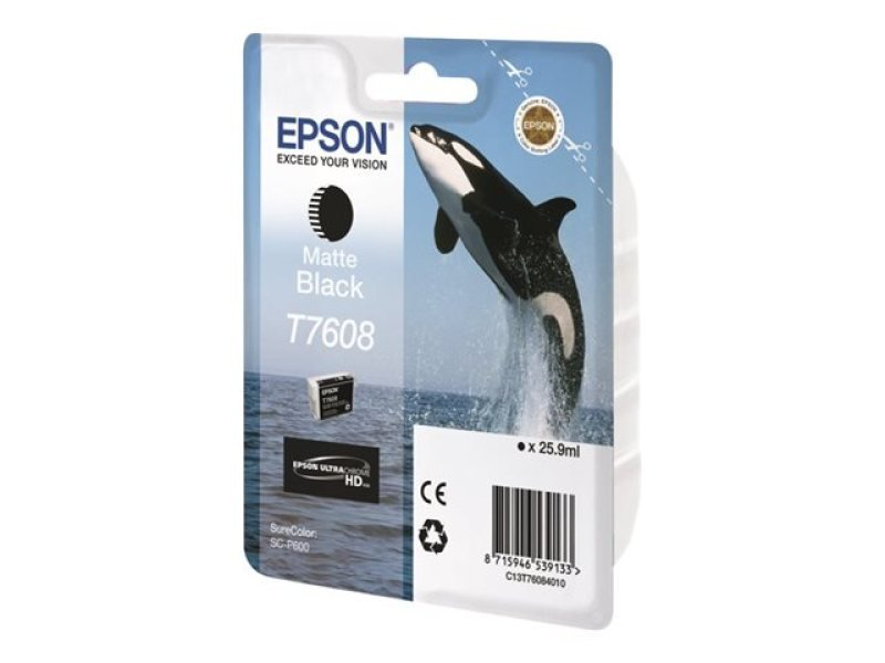 Epson T7608 Matte Black Ink Cartridge