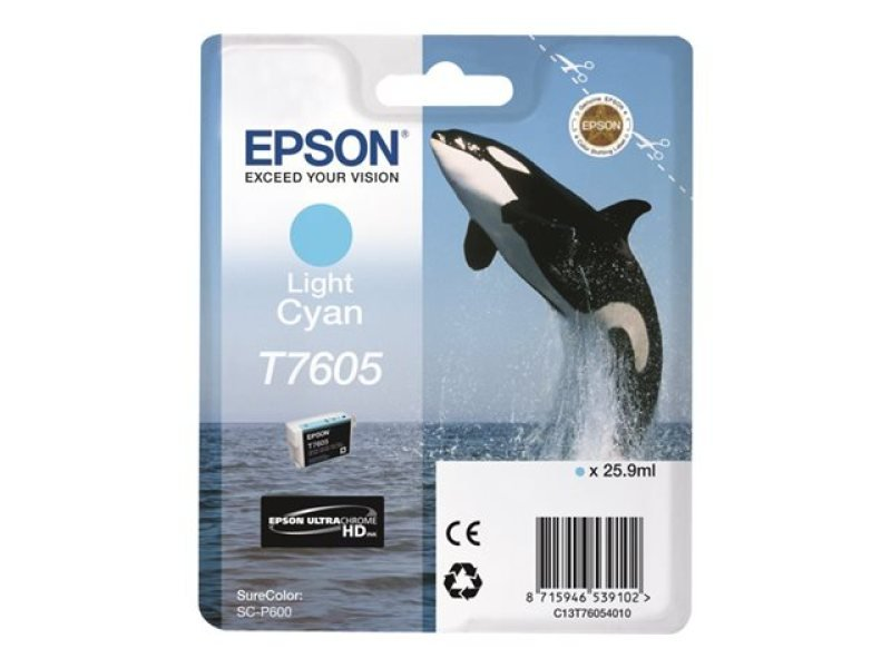 Epson T7605 Light Cyan Ink Cartridge