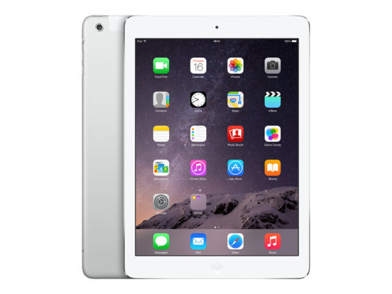 """Apple iPad Air 2 WiFi  Cellular 128GB Tablet  Silver  A8x CPU  128GB Flash  9.7"""" IPS TFT Display  2048 x 1536 ( 264 ppi )  4G and 2 Cameras  Apple iOS 8"""