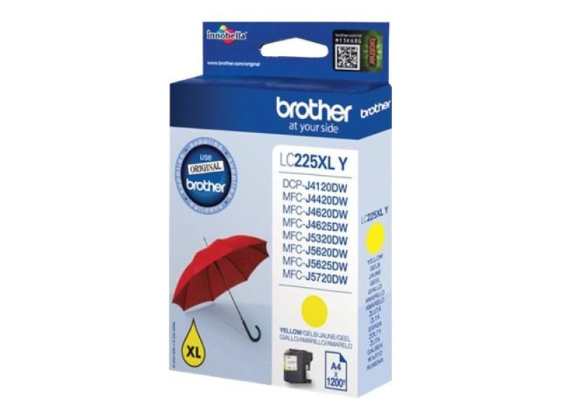 Brother LC225XLY Yellow Ink Cartridge