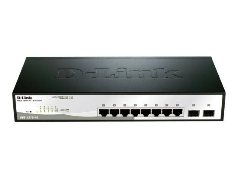 D-Link DGS-1210-10 10 Port Gigabite Smart Switch (fanless)