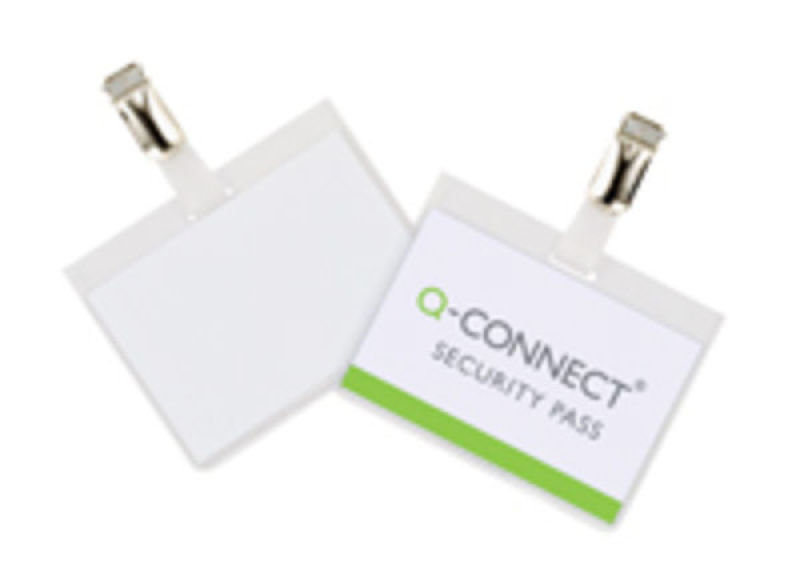 Q CONNECT SECURITY BADGE 60 X 90MM PK25