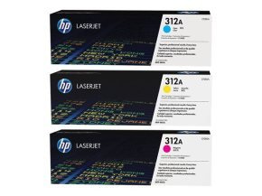 HP 312A 3 Pack Colour Toner Cartridges - CF440AM