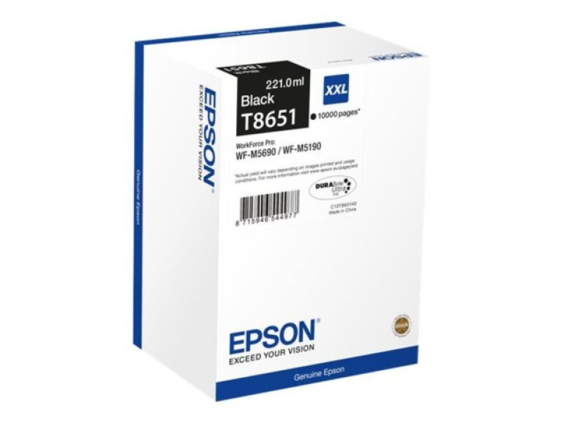 Epson Ink Cartridge C13T865140 XXL T8651 Black