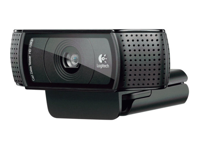 Logitech C920 USB HD Pro Webcam with Auto-Focus and Microphone