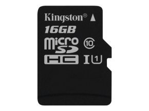 Kingston Technology 16GB microSDHC Class 10 UHS-I 45R Flash Card Single Pack w/o Adapter