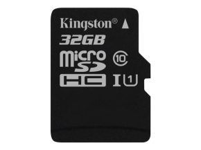 Kingston Technology 32GB microSDHC Class 10 UHS-I 45R Flash Card Single Pack w/o Adapter