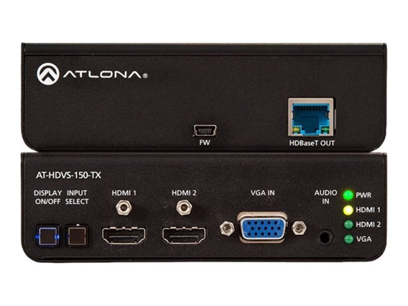 Image of Three-Input Switcher for HDMI and VGA Inputs with HDBaseT Output