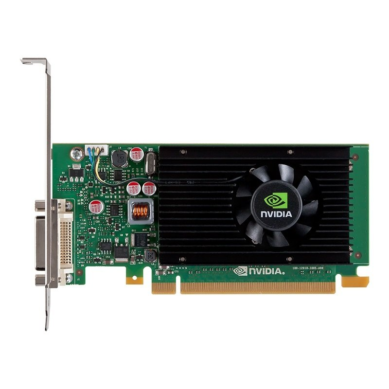 PNY NVS315 PCI-Express x16 1Gb 64bit GDDR3 graphics card with DMS59 output giving 2 x DVI output ships with ATX bracket attached and LP bracket in box plus 2 x DVI-VGA adapters - VCNVS315DP-PB