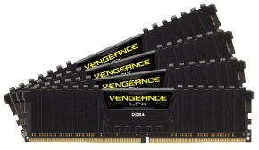 Corsair Vengeance LPX 64GB (4x16GB) DDR4 DRAM 2666MHz C16 Memory Kit - Black