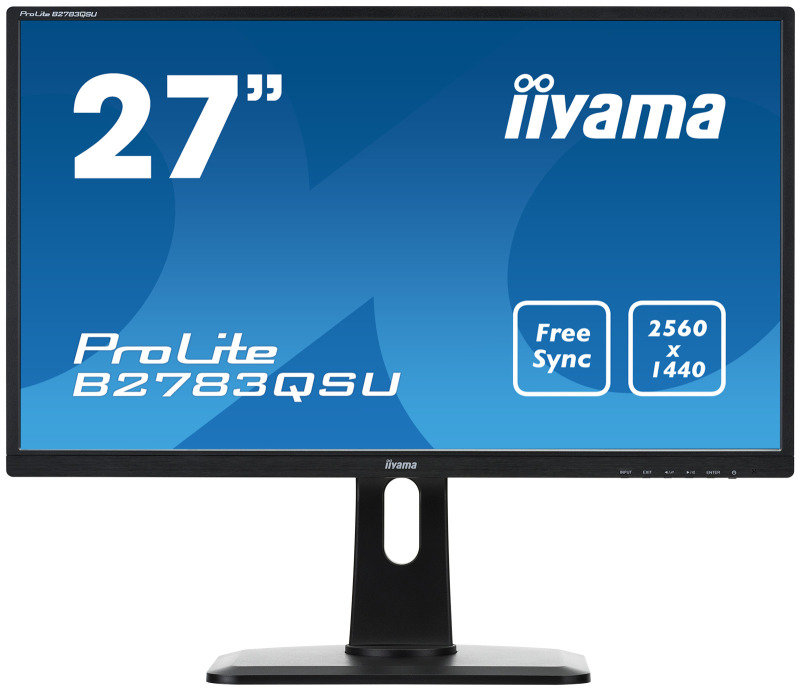 B2783QSU-B1 27 LED Black, 2560 x 1440 Free Sync, Height Adjustable