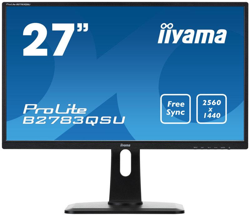 B2783QSU-B1 27 LED Black, 2560 x 1440 Free Sync, Height Adjustable