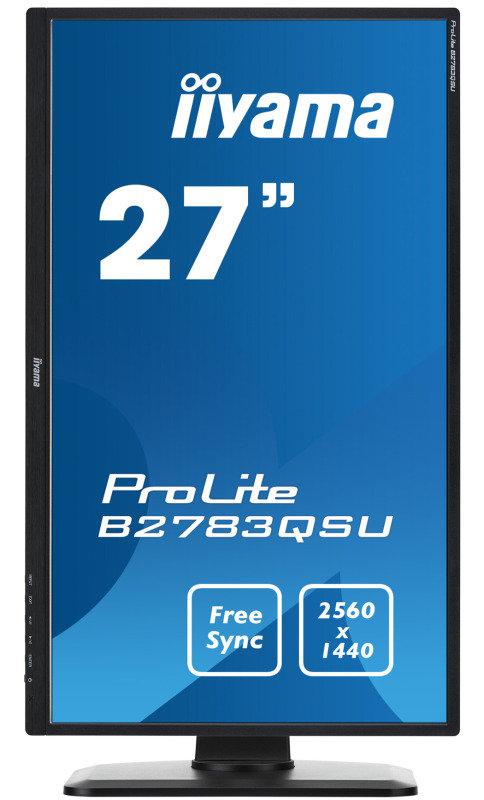 """Iiyama B2783QSU-B1 27"""" QHD Free Sync LED Monitor"""