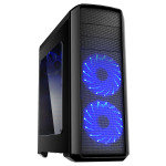 Game Max Volcano Gaming PC Case with Blue LED Front Fans