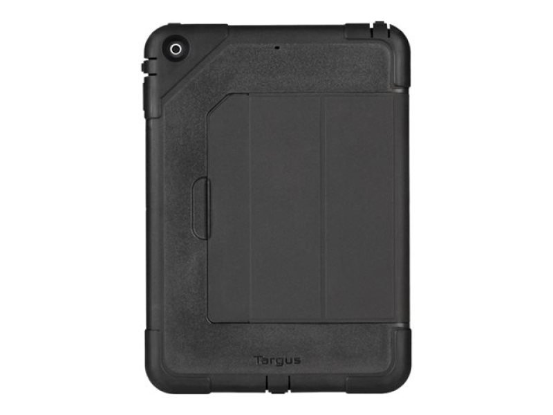 Image of Targus SafePORT Heavy Duty - Back cover for tablet - polycarbonate, thermoplastic polyurethane - black - for Apple iPad Air