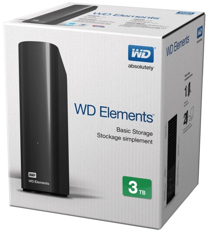 wd elements desktop 3tb external hdd black ebuyer. Black Bedroom Furniture Sets. Home Design Ideas