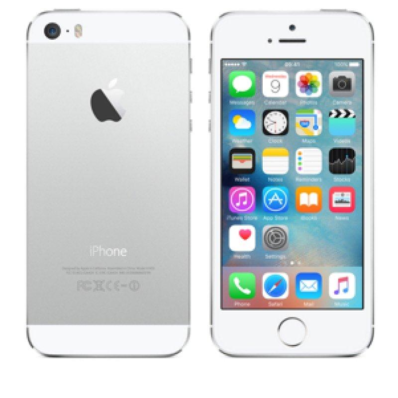 """iPhone 5s  4G  16GB  4""""  1136 x 640 pixels ( 326 ppi )  Retina  Apple A7 64bit   8 Mpix ( 1.2Mpix front camera )  iOS 9  silver"""
